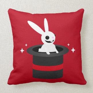 Magical Cartoon Rabbit Hat Throw Pillow