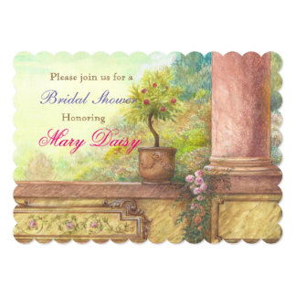 Magical castle enchanting bridal shower card