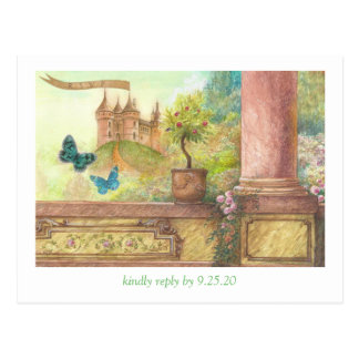 Magical castle enchanting RSVP Postcard