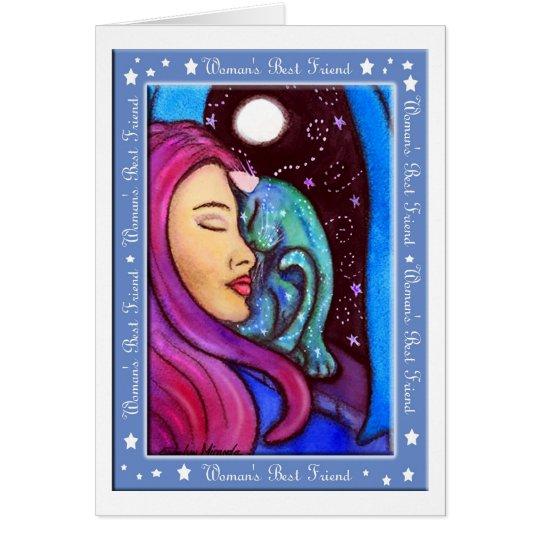 Magical Cat Woman's Best Friend Card