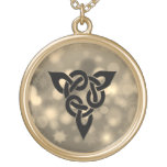 Magical Celtic knott Gold Finish Necklace