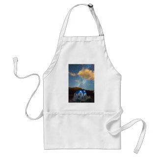 Magical Chapel On The Rock Milky Way Sky Adult Apron