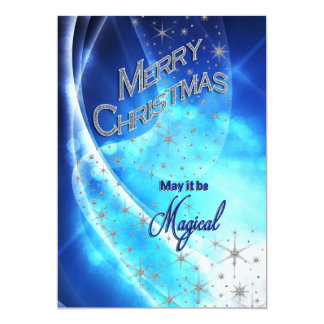 MAGICAL CHRISTMAS - BLUE - PHOTO INSERT/BACKSIDE CARD