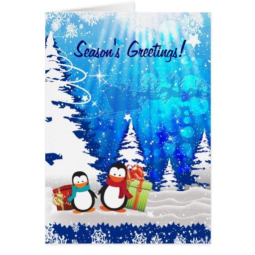 Magical Christmas Eve  Season's Greetings Card