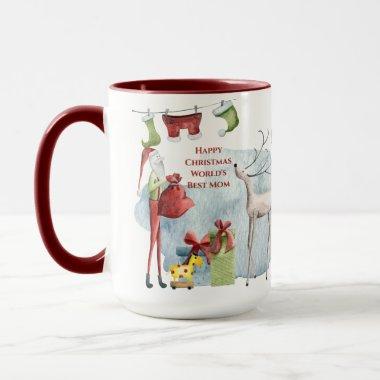 Magical Christmas Mug For Worlds Best MOM Custom