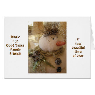 MAGICAL CHRISTMAS / NEW YEARS WISHES CARD