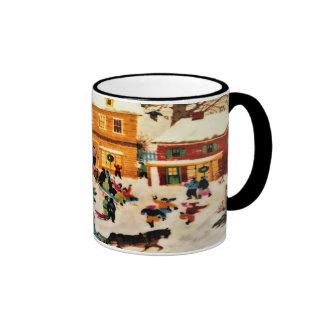 Magical Christmas Ringer Mug