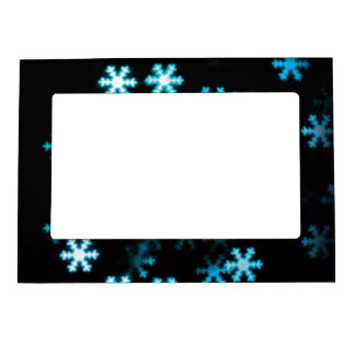 Magical Christmas Snowflakes Magnetic Photo Frame