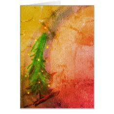 Magical Christmas Tree 2 Card at Zazzle