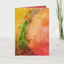 Magical Christmas Tree 2 greeting card