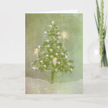 Magical Christmas, Tree & Fairies Holiday Card