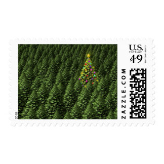 Magical Christmas Tree Postage