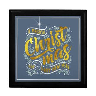 Magical Christmas Typography Gold ID441 Gift Box