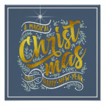 Magical Christmas Typography Gold ID441 Poster