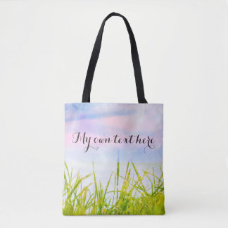 Magical colors tote bag with your own text