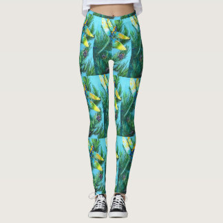 Magical Cute Dragonfly Pine Tree Designed Leggings