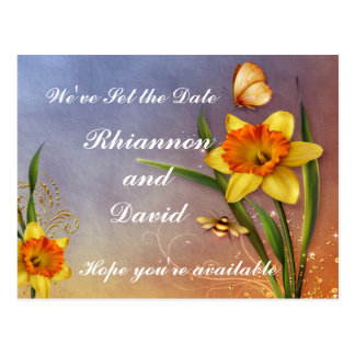 Magical Daffodils Save the Date Postcard