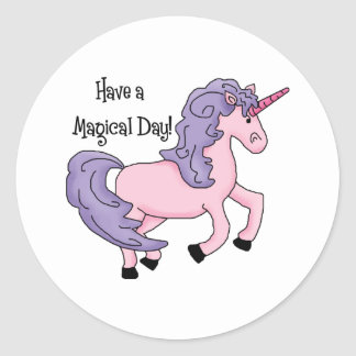 Magical Day Unicorn Tees and Gifts Classic Round Sticker