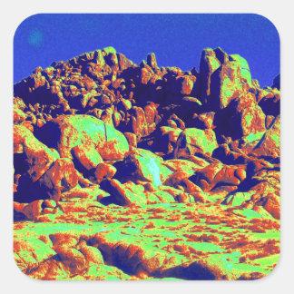 Magical Desert 10 Square Sticker