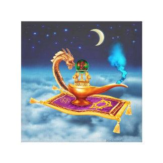 Magical Dragon Lamp Canvas Print