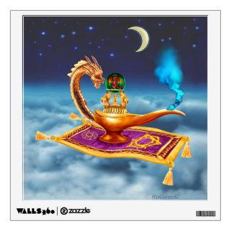Magical Dragon Lamp Wall Sticker