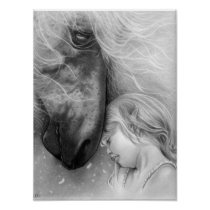 Magical Dreams Girl with Horse POSTER
