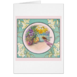 MAGICAL EASTER FLOWER FAIRY GREETING GREETING CARD