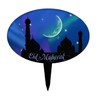 Magical Eid Night - Cake Topper oval