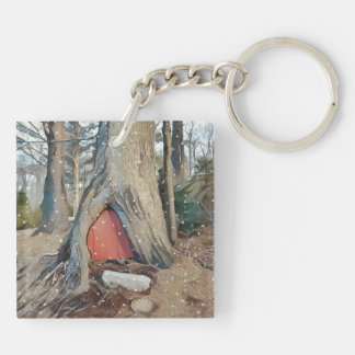 Magical Elf House Keychain
