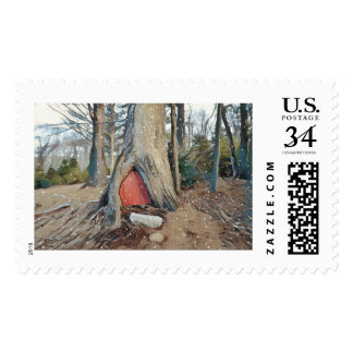 Magical Elf House Postage Stamp