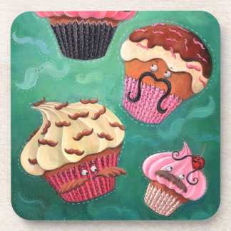 Magical Emporium of Flying Mustached Cupcakes Beverage Coaster