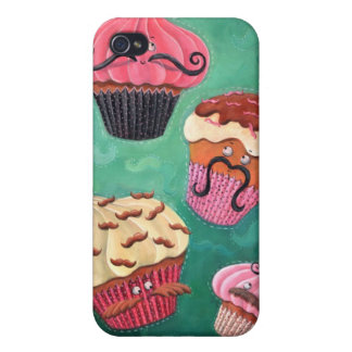 Magical Emporium of Flying Mustached Cupcakes Cover For iPhone 4