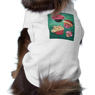 Magical Emporium of Flying Mustached Cupcakes Doggie Shirt