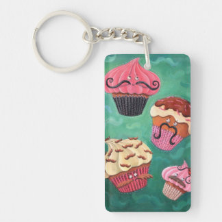 Magical Emporium of Flying Mustached Cupcakes Keychain