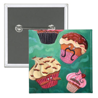Magical Emporium of Flying Mustached Cupcakes Pinback Button