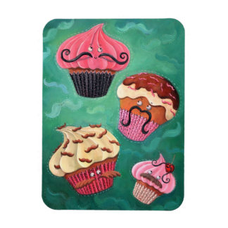 Magical Emporium of Flying Mustached Cupcakes Rectangular Photo Magnet