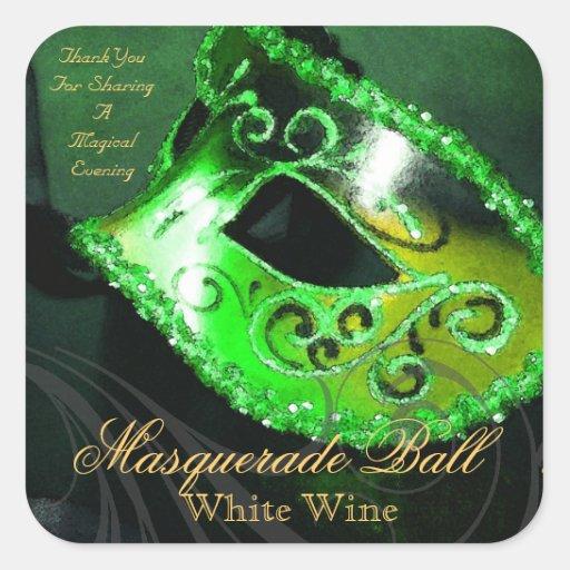 Magical Evening Green Masquerade Sticker