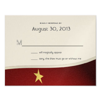 """Magical Event Reply Card 4.25"""" X 5.5"""" Invitation Card"""
