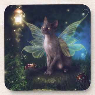Magical Faery Kitty Beverage Coaster