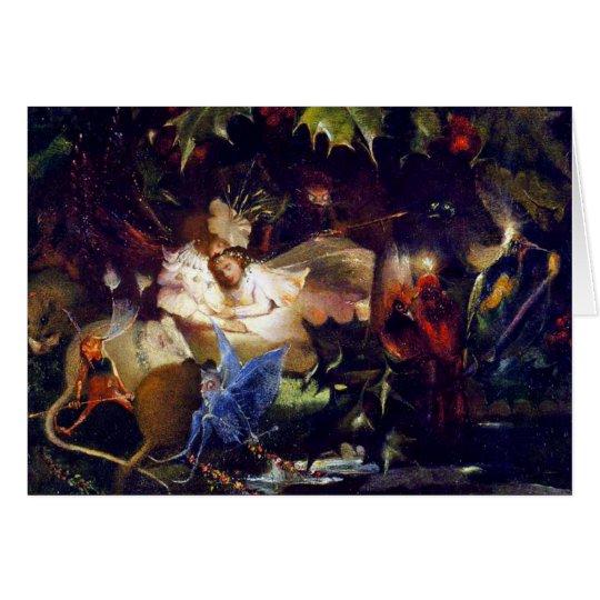 Magical Fairy Fantasy Painting: The Fairy Bower Card