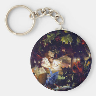 Magical Fairy Fantasy Painting: The Fairy Bower Keychain