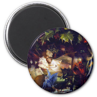 Magical Fairy Fantasy Painting: The Fairy Bower 2 Inch Round Magnet