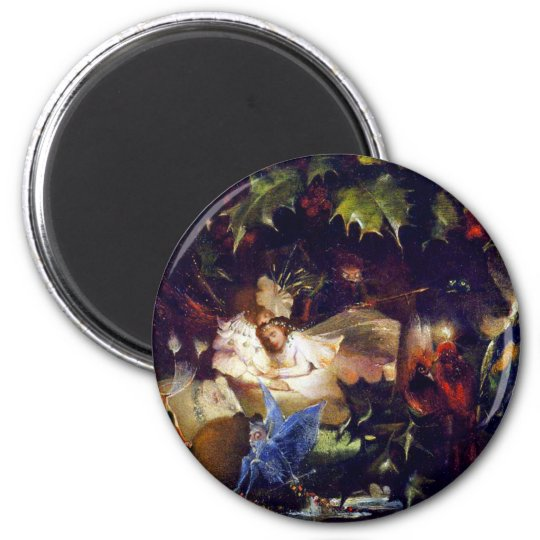 Magical Fairy Fantasy Painting: The Fairy Bower Magnet