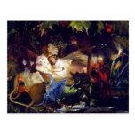 Magical Fairy Fantasy Painting: The Fairy Bower Postcard