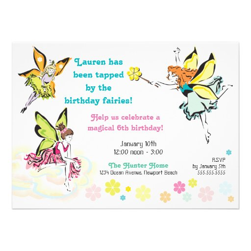 Magical Fairy Party Invitation