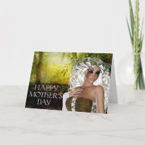 Magical Fantasy Deer Woman Mother's Day Card