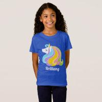 Magical Fantasy unicorn add name girls t-shirt