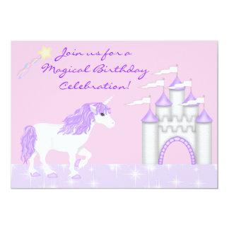 Magical Fantasy Unicorn Girl's Birthday Card