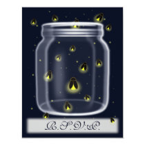 magical fireflies mason jar rsvp cards