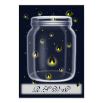 magical fireflies mason jar rsvp cards 3.5 x 5